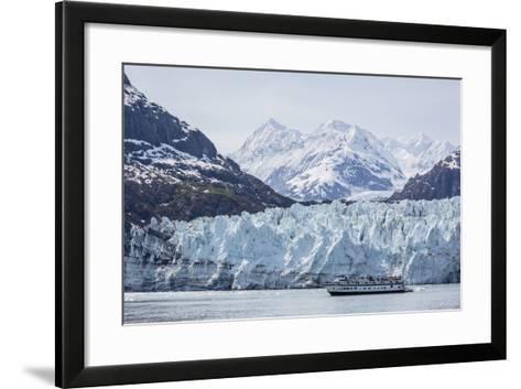 A Tourist Ship Explores the Lamplugh Glacier in Glacier Bay National Park and Preserve, Alaska-Michael Nolan-Framed Art Print