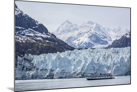 A Tourist Ship Explores the Lamplugh Glacier in Glacier Bay National Park and Preserve, Alaska-Michael Nolan-Mounted Photographic Print