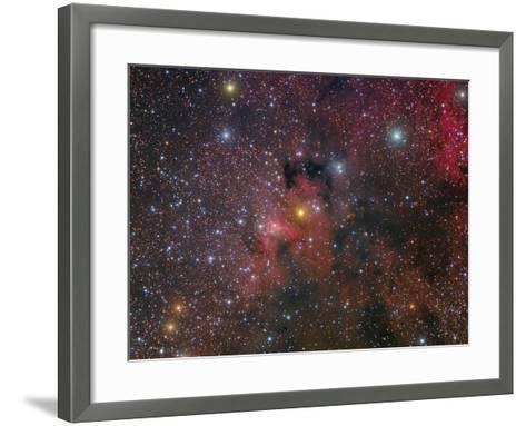 The Cave Nebula and Surroundings-Stocktrek Images-Framed Art Print