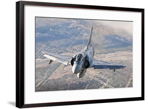 Brazilian Air Force Mirage 2000 Flying over Brazil-Stocktrek Images-Framed Art Print