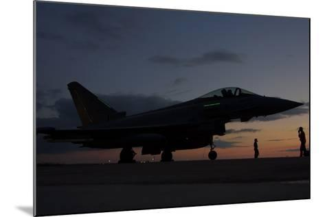 An Italian Air Force F-2000 Typhoon at Trapani Air Base, Italy-Stocktrek Images-Mounted Photographic Print