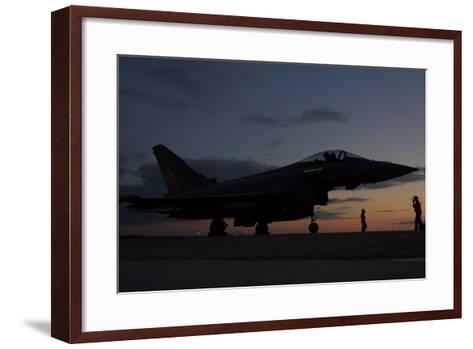 An Italian Air Force F-2000 Typhoon at Trapani Air Base, Italy-Stocktrek Images-Framed Art Print