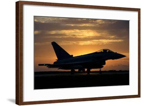 An Italian Air Force F-2000 Typhoon at Sunset-Stocktrek Images-Framed Art Print