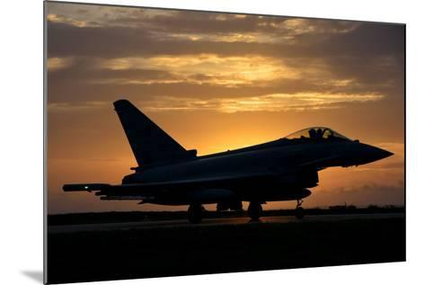 An Italian Air Force F-2000 Typhoon at Sunset-Stocktrek Images-Mounted Photographic Print