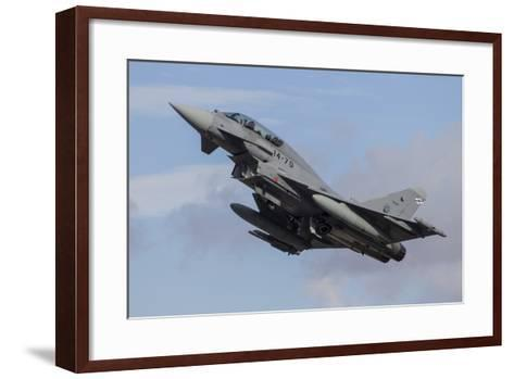 A Spanish Air Force Typhoon Jet Taking Off-Stocktrek Images-Framed Art Print