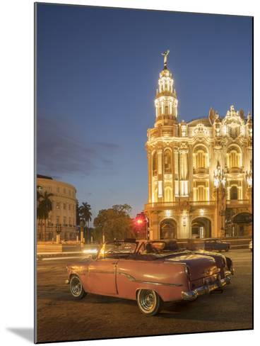 Old American Car, Havana, Cuba, West Indies, Caribbean, Central America-Angelo Cavalli-Mounted Photographic Print