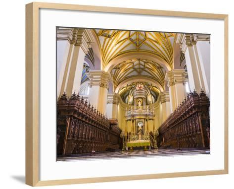Basilica Cathedral of Lima Interior, Plaza De Armas (Plaza Mayor), Lima, Lima Province, Peru-Matthew Williams-Ellis-Framed Art Print