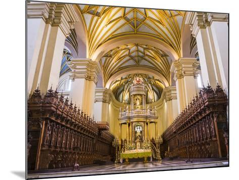 Basilica Cathedral of Lima Interior, Plaza De Armas (Plaza Mayor), Lima, Lima Province, Peru-Matthew Williams-Ellis-Mounted Photographic Print