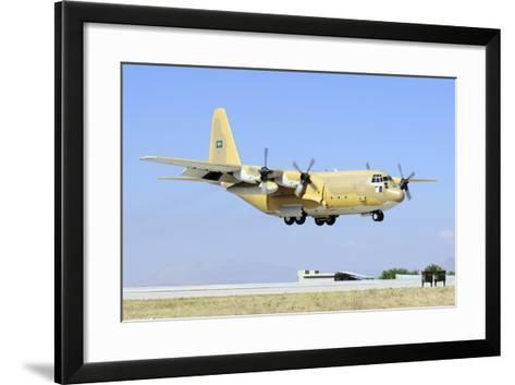 A Sroyal Saudi Air Force C-130H-30 Hercules Landing at Konya Air Base-Stocktrek Images-Framed Art Print
