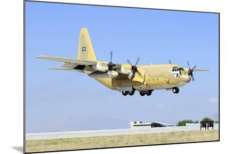 A Sroyal Saudi Air Force C-130H-30 Hercules Landing at Konya Air Base-Stocktrek Images-Mounted Photographic Print
