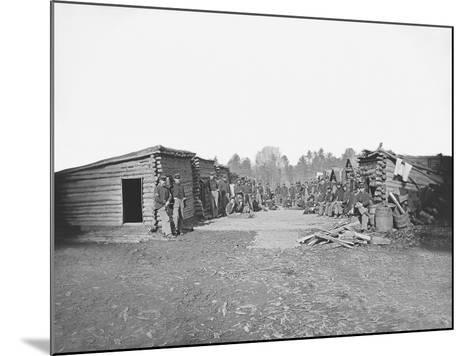 Infantry Winter Quarters During the American Civil War-Stocktrek Images-Mounted Photographic Print
