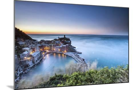 Vernazza and its Harbor in a Winter Night, Cinque Terre National Parc, Liguria-ClickAlps-Mounted Photographic Print