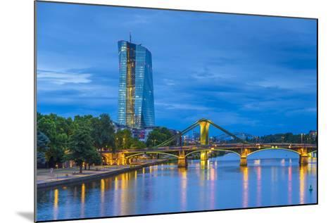 Germany, Hessen, Frankfurt Am Main, Ostend, River Main, New European Central Bank Building-Alan Copson-Mounted Photographic Print