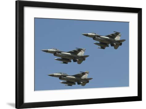 A Formation of Turkish Air Force F-16C/D Aircraft-Stocktrek Images-Framed Art Print