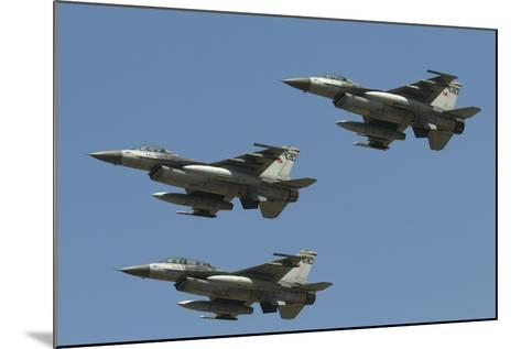 A Formation of Turkish Air Force F-16C/D Aircraft-Stocktrek Images-Mounted Photographic Print