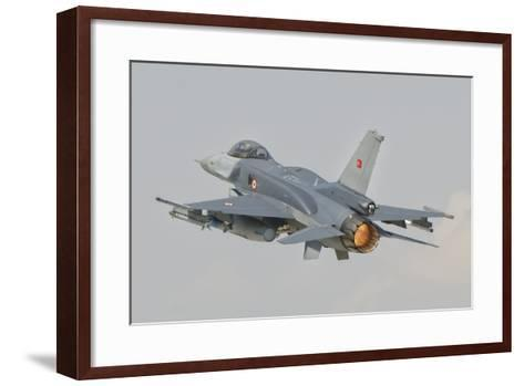 Turkish Air Force F-16 in Flight over Turkey-Stocktrek Images-Framed Art Print