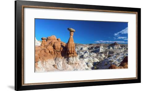 Usa, Utah, Grand Staircase Escalante National Monument, the Toadstools-Alan Copson-Framed Art Print