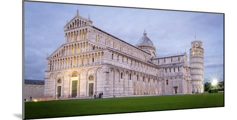 Pisa, Campo Dei Miracoli, Tuscany. Cathedral and Leaning Tower at Dusk, Long Exposure-Francesco Riccardo Iacomino-Mounted Photographic Print