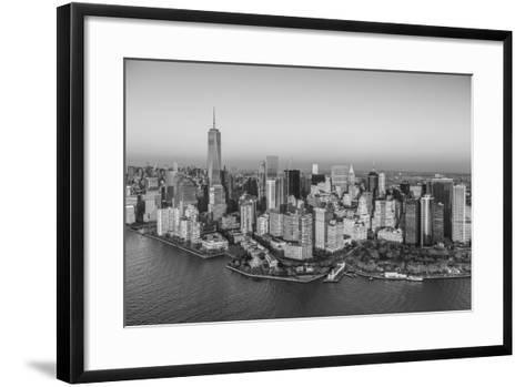 One World Trade Center and Lower Manhattan, New York City, New York, USA-Jon Arnold-Framed Art Print