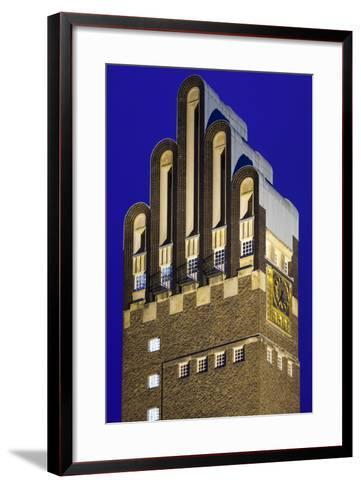 Germany, Hesse, Darmstadt, Mathildenhohe Kunstlerkolonie Park, Wedding Tower-Walter Bibikow-Framed Art Print