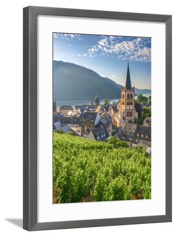 Germany, Rhineland Palatinate, River Rhine-Alan Copson-Framed Art Print