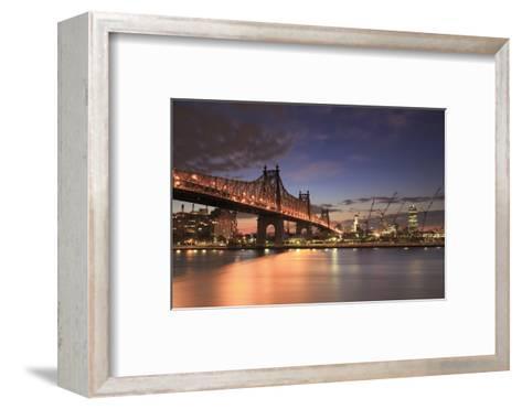 Usa, New York, New York City, Manhattan, Ed Koch Queensboro Bridge-Michele Falzone-Framed Art Print