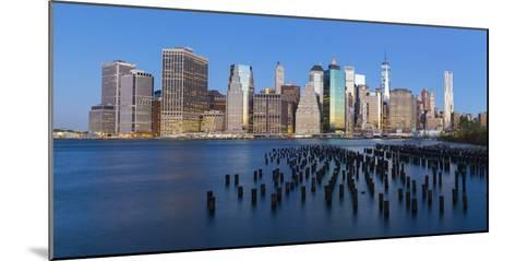 Usa, New York City, Downtown Financial District of Manhattan-Gavin Hellier-Mounted Photographic Print