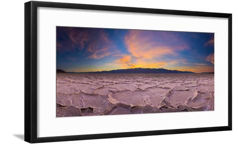 Usa, California, Death Valley National Park, Badwater Basin, Lowest Point in North America-Alan Copson-Framed Art Print