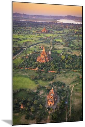 Myanmar (Burma), Temples of Bagan (Unesco World Heritage Site) Elevated View from Baloon-Michele Falzone-Mounted Photographic Print