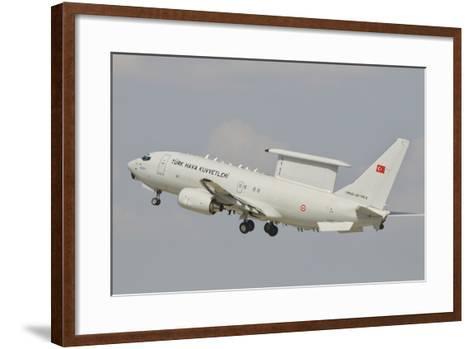 A Turkish Air Force Boeing 737 Aew Taking Off-Stocktrek Images-Framed Art Print