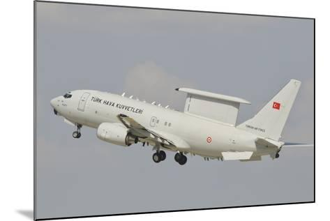 A Turkish Air Force Boeing 737 Aew Taking Off-Stocktrek Images-Mounted Photographic Print