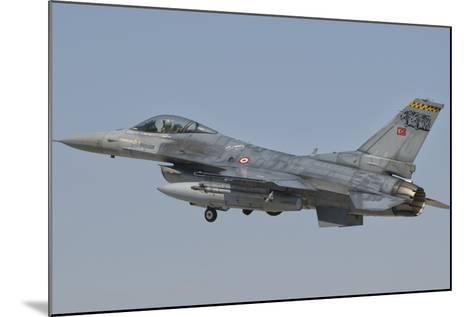 Turkish Air Force F-16 in Flight over Turkey-Stocktrek Images-Mounted Photographic Print