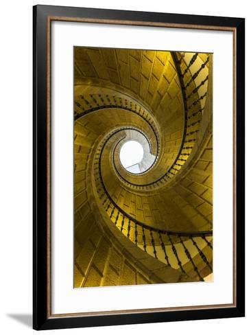 Triple Spiral Staircase of Floating Stairs. Convent of Santo Domingo De Bonaval-Peter Adams-Framed Art Print
