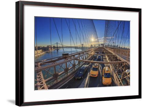 Usa, New York City, Brooklyn Bridge-Michele Falzone-Framed Art Print