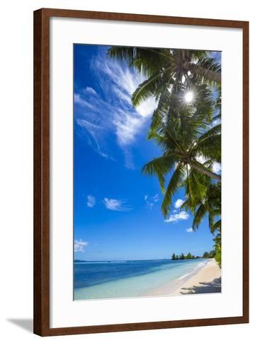 Palm Trees and Tropical Beach, La Digue, Seychelles-Jon Arnold-Framed Art Print