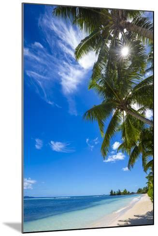 Palm Trees and Tropical Beach, La Digue, Seychelles-Jon Arnold-Mounted Photographic Print