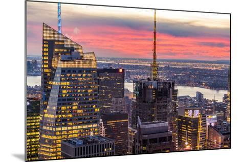Midtown Skyline with Empire State Building from the Rockefeller Center, Manhattan, New York City-ClickAlps-Mounted Photographic Print