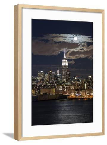 Manhattan, Moonrise over the Empire State Building-Gavin Hellier-Framed Art Print