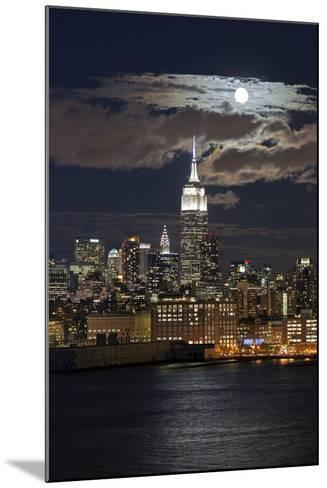 Manhattan, Moonrise over the Empire State Building-Gavin Hellier-Mounted Photographic Print