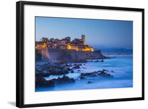 Old Town and Sea Wall in Antibes, Alpes-Maritimes, Provence-Alpes-Cote D'Azur-Jon Arnold-Framed Art Print