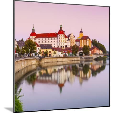 Neuburg Castle Reflected in the River Danube at Dawn, Neuburg, Neuburg-Schrobenhausen-Doug Pearson-Mounted Photographic Print