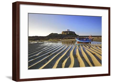 Fort Grey, Rocquaine Bay, Guernsey, Channel Islands-Neil Farrin-Framed Art Print