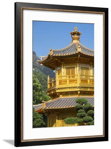 Pagoda in Nan Lian Garden at Chi Lin Nunnery, Diamond Hill, Kowloon, Hong Kong-Ian Trower-Framed Art Print