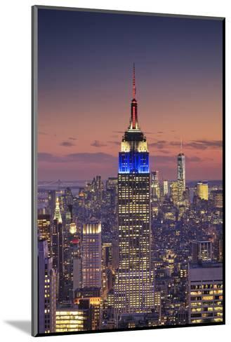 Usa, New York, Manhattan, Top of the Rock Observatory, Midtown Manhattan and Empire State Building-Michele Falzone-Mounted Photographic Print