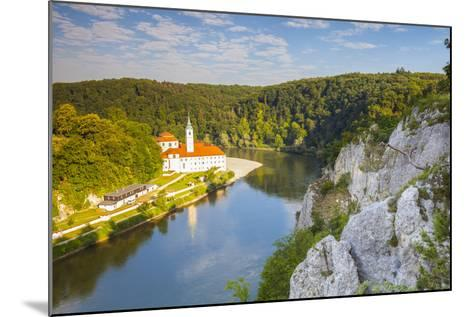 Elevated View over Weltenburg Abbey and the River Danube, Lower Bavaria, Bavaria, Germany-Doug Pearson-Mounted Photographic Print
