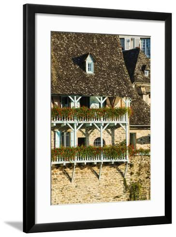 Typical Architecture in Argentat, Limousin, France-Nadia Isakova-Framed Art Print