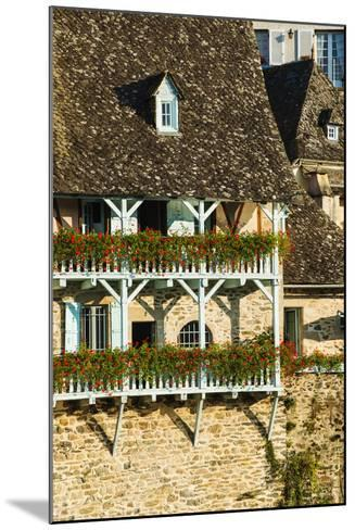 Typical Architecture in Argentat, Limousin, France-Nadia Isakova-Mounted Photographic Print