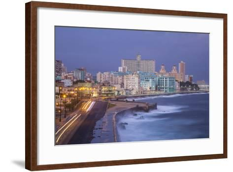 The Malecon Looking Towards Vedado, Havana, Cuba-Jon Arnold-Framed Art Print