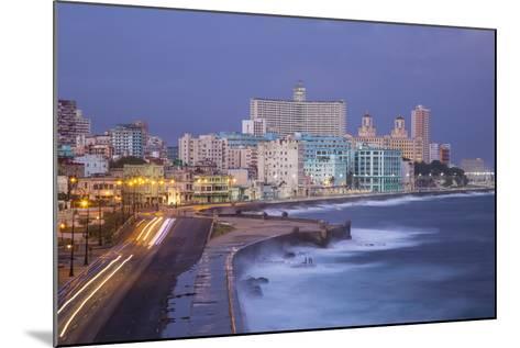 The Malecon Looking Towards Vedado, Havana, Cuba-Jon Arnold-Mounted Photographic Print