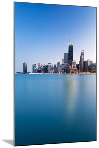 Usa, Illinois, Chicago. the City Skyline from North Avenue Beach.-Nick Ledger-Mounted Photographic Print